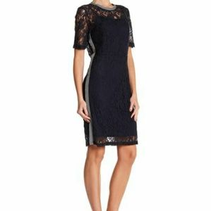 Hope & Harlow Navy Blue Lace Dress